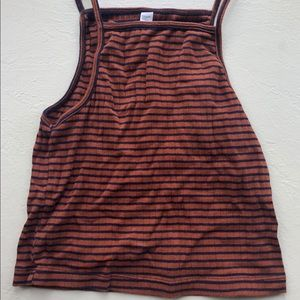 American Apparel Rust Orange Tank Top